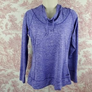 Avia Hooded Running Top Size M Purple Cowl Neck